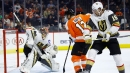 Flyers score four goals in the 2nd period to top Golden Knights