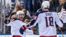 Nyquist scores OT winner on penalty shot, Blue Jackets beat Maple Leafs