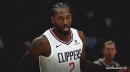 Video: Kawhi Leonard banks fadeaway jumper for first points with Clippers