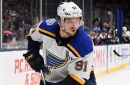 Blues' Tarasenko out with upper-body injury