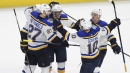David Perron scores in overtime to lift Blues past Red Wings