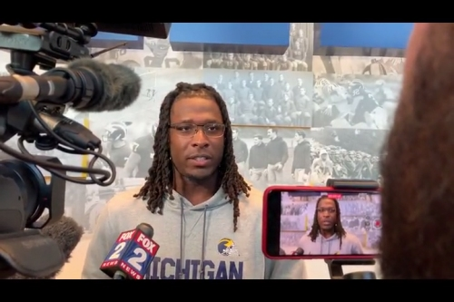 Michigan football's Luiji Vilain shares story of battling knee injuries in college