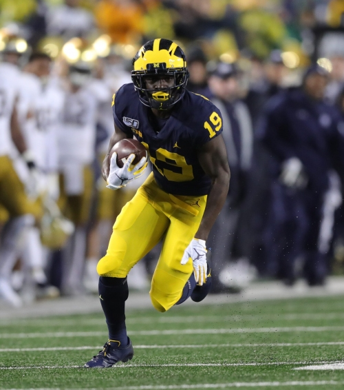 Michigan football receiver Mike Sainristil puts drops behind him with new opportunity