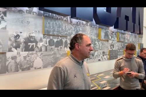 Michigan secondary coach Mike Zordich: We stress stopping the run