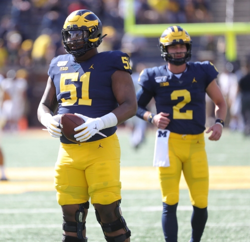 'Ceez in space': Cesar Ruiz's athleticism pays off against Notre Dame