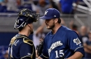 Five Brewers pitchers file for free agency