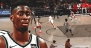 VIDEO: Nets' Caris LeVert throws no-look pass to Jarrett Allen vs. Rockets