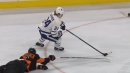 Kapanen snipes upstairs for Leafs after blowing past defender