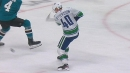 Pettersson bunts puck home out of mid-air for Canucks