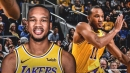 Lakers' Avery Bradley questionable to play Tuesday vs. Bulls after injury scare vs. Spurs