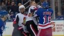 Senators & Rangers scrap multiple times in first period