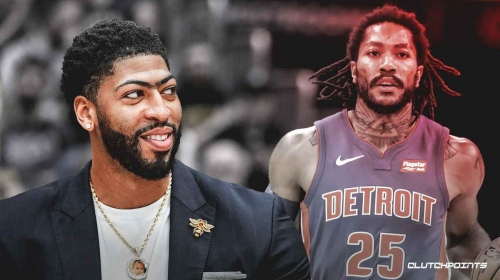 Lakers superstar Anthony Davis happy Pistons guard Derrick Rose is 'back being the old Derrick Rose'