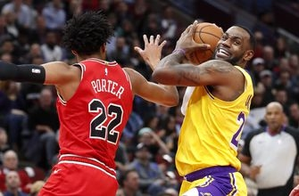 LeBron posts latest triple-double, Lakers rally past Bulls