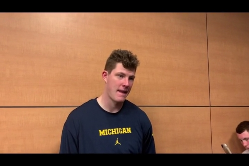 Michigan's Jon Teske explains what the difference was in first half vs. second half