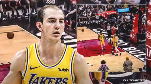Alex Caruso responds hilariously to LeBron James' chest bump