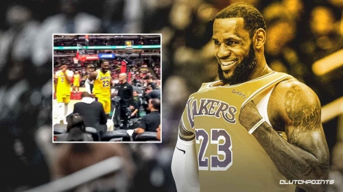 Video: Lakers' LeBron James hilariously responds to heckler during Bulls game