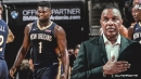 Pelicans coach Alvin Gentry says no plan in place yet for Zion Williamson's return to practice