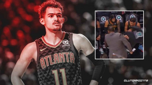 Video: Trae Young almost gets hit by chair during Hawks assistant coach outburst on bench