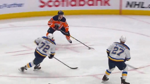 Leon Draisaitl and Connor McDavid connect to open the scoring