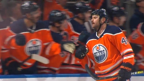 Zack Kassian finishes off Leon Draisaitl's feed with a top-corner snipe