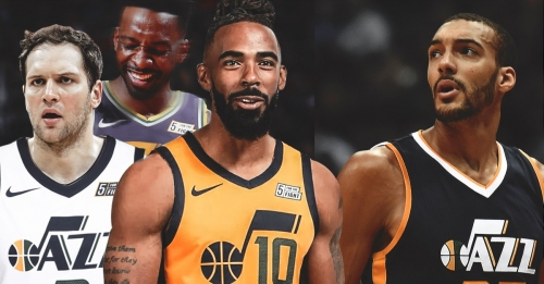 Mike Conley, Bojan Bogdanovic, Jeff Green admits not competing against Rudy Gobert is best part about playing for Jazz