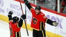 Flames' Noah Hanifin's breakthrough vs. Devils a long time coming