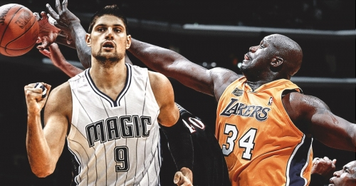 Nikola Vucevic ties Shaquille O'Neal's Magic record for most 20-15-5 games