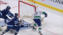 Hellebuyck denies Bo Horvat on the doorstep with sprawling save