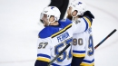 David Perron scores in overtime as Blues beat Flames