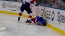 Boyle crushes Lindgren into boards with punishing hit