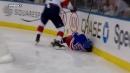 Boyle crushes Lindgren into boards with punishing hit