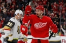 Anthony Mantha's goal late gives Detroit Red Wings a 3-2 win over Vegas, and a win streak