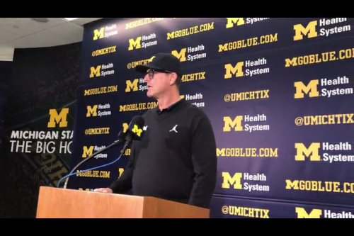 Michigan football coach Jim Harbaugh: We must be ready for everything vs. Michigan State