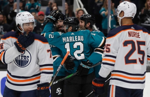 Sharks down Oilers for 4th straight win