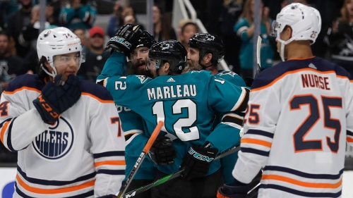 Oilers fail to match Sharks' desperation, miss shot to pull away in Pacific