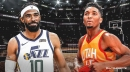 Video: Jazz guards' Mike Conley, Donovan Mitchell share hilarious locker room exchange about 'waking up'