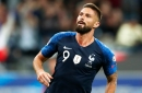 Olivier Giroud: France boss Didier Deschampion defends Chelsea striker pick over Man United's Anthony Martial