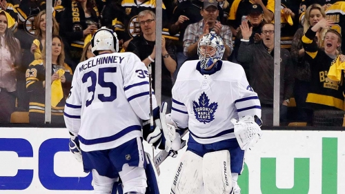 Maple Leafs have been swimming in net since letting McElhinney go