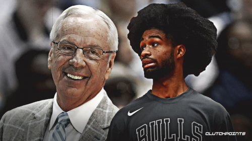 Video: Bulls' Coby White asks UNC coach Roy Williams to come to more games after historic performance