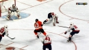Jakub Voracek cuts to middle, slides puck over to Claude Giroux for goal