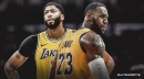 Lakers forward LeBron James knew he had to shoulder the load offensively without Anthony Davis