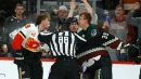 Coyotes' Kuemper fights Tkachuk as Coyotes shut out Flames
