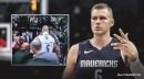 Video: Mavs' Kristaps Porzingis reacts to postgame incident involving crazy female fan