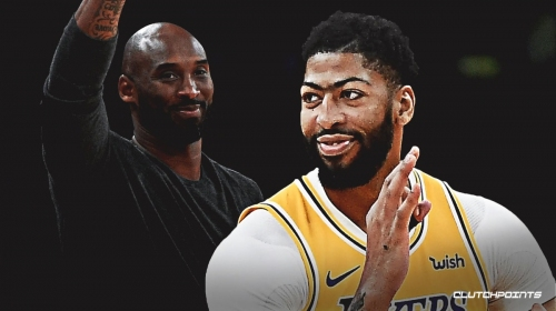 Lakers' Anthony Davis happy to have Kobe Bryant courtside for win vs. Hawks