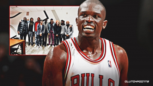 Video: Luol Deng reunites with Derrick Rose, Joakim Noah, other former Bulls teammates in Chicago