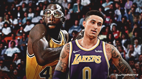 A bespectacled Kyle Kuzma wants to be known as 'Big Game Kuz'