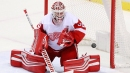 Red Wings forced to use sick Jonathan Bernier after Howard hurt