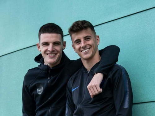 Happy and happier: Best mates Mason Mount and Declan Rice on journey from Chelsea academy to England internationals