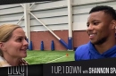 Giants RB Saquon Barkley talks Barry Sanders, Penn State and of course turkey | 1 Up, Down with Shannon Spake