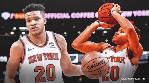 Knicks' Kevin Knox could return to New York's rotation Sunday vs. Celtics